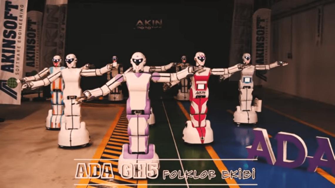 """AKINROBOTICS Üretimi Son İnsansı Robot ADA GH5 Folklor Ekibi """"Erik Dalı"""" Dans Gösterisi…"""