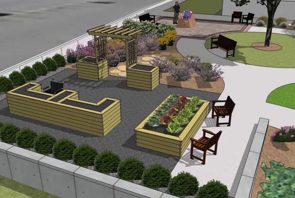 VA Therapy Garden Flyover