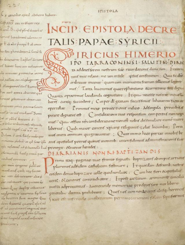 Décret du pape saint Sirice à Himère