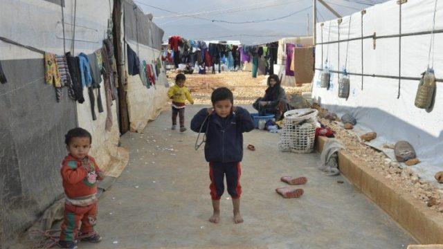 Syrian refugees in Lebanon.
