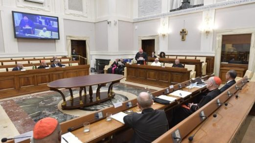 A meeting of the Council for the Economy in 2019