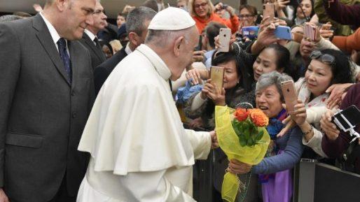 教皇フランシスコ、2020年2月19日、バチカン・パウロ6世ホールでの一般謁見