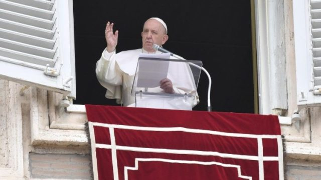 Pope Francis during Angelus