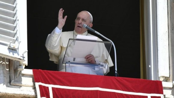 Pope Francis during his Sunday Angelus