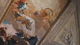 2019.09.03 Hromotska1 Affresco nella Chiesa dei Santi Vincenzo e Atanasio alla Fontana di Trevi