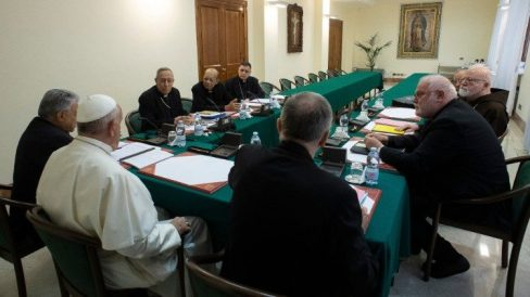 The Council of Cardinals meeting in 2019.