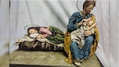 """2019.12.21 Presepe """"lasciamo riposare mamma"""""""