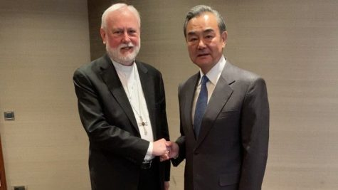 Archbishop Paul Richard Gallagher, Holy See's Secretary for Relations with States meets His Excellency Mr. Wang Yi, Minister of Foreign Affairs of the PRC