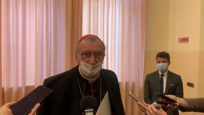 Cardinal Pietro Parolin at the Pontifical Antonianum University