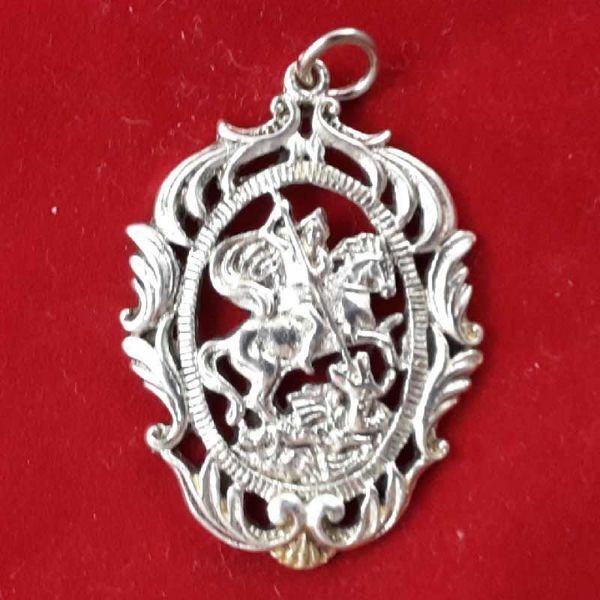 San Giorgio  Medaglia pendente bagno oro o argento  Vaticanumcom vendita online prezzi