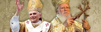 Benedikt XVI and Bartholomew I