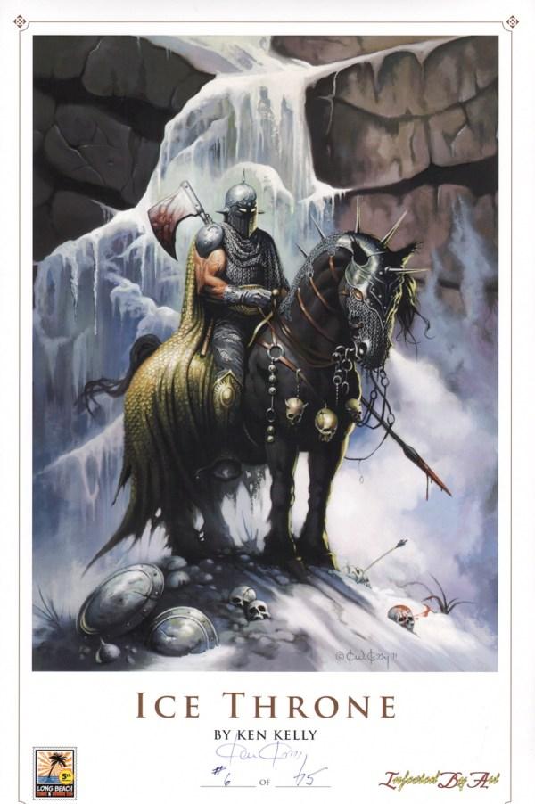 Ken Kelly Signed Fantasy Art Print #6 75 Iceman