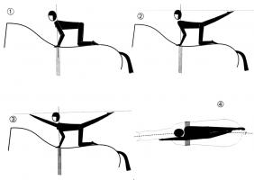 Flag (first arm, then leg)