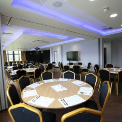 Chair Cover Hire Ellesmere Port Swing Aliexpress Function Room Wirral Vauxhall Motors Sports Club Seats Surrounded By Round Tables Setup For A Corporate Event