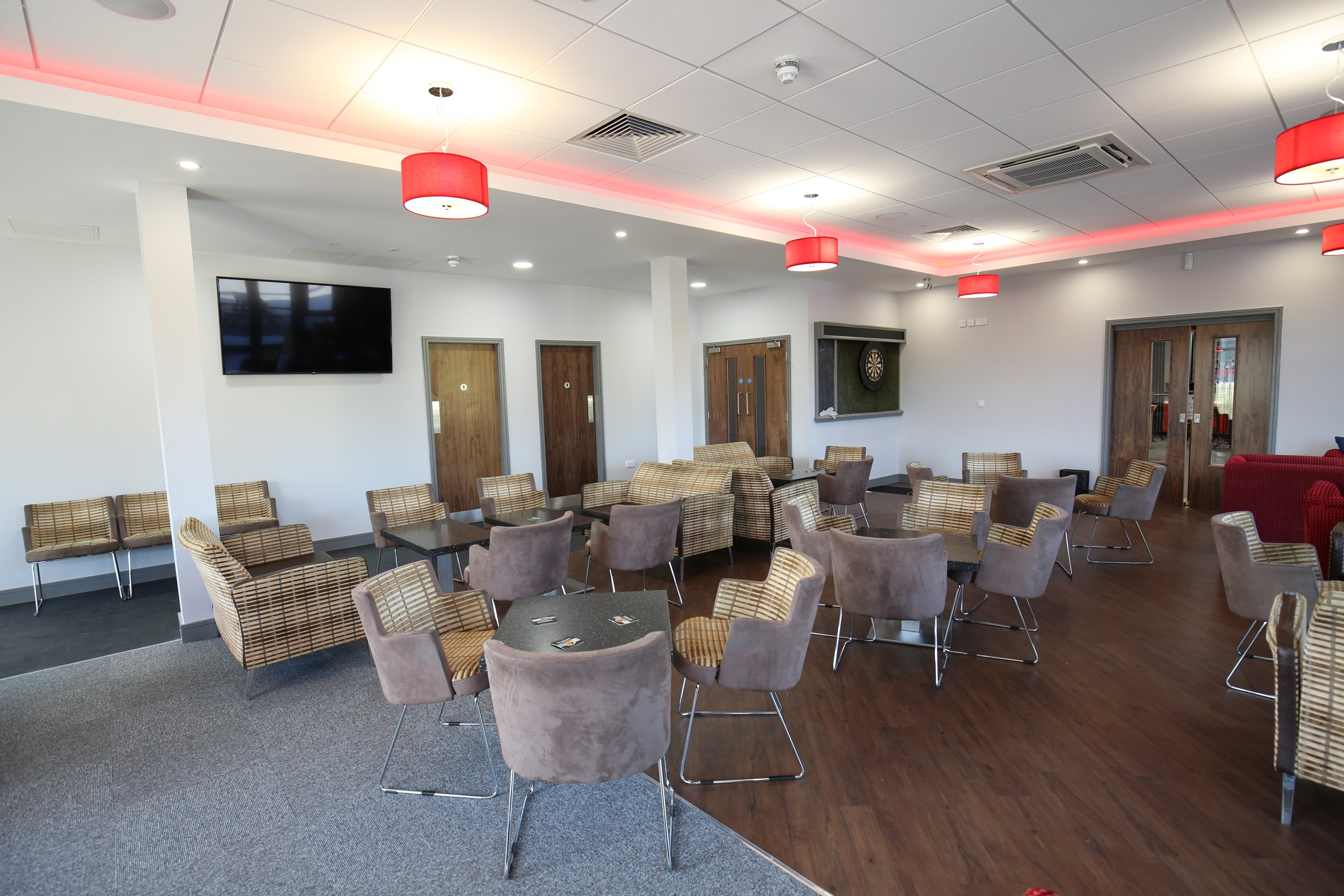 chair cover hire ellesmere port folding exercise as seen on tv function room wirral vauxhall motors sports club chairs and tables in lounge area