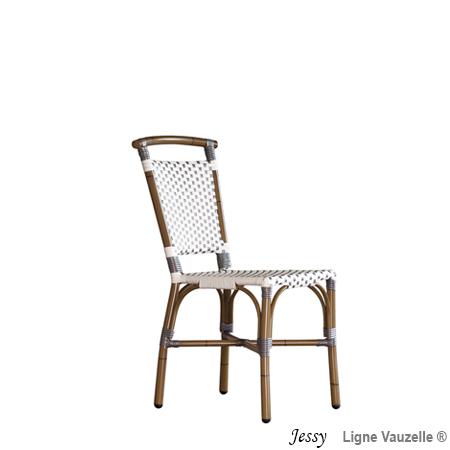 chaise alu jessy epoxy rotin