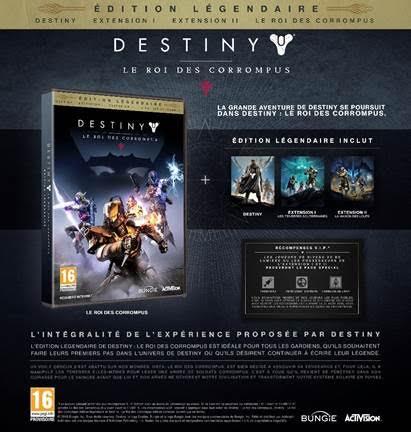 Destiny Le Roi des Corrompus Edition Légendaire