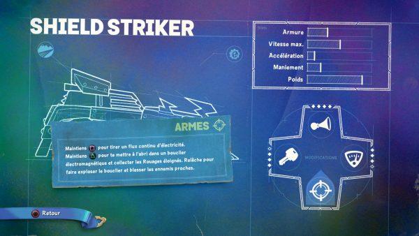 Skylander SuperChargers Shield Striker Armes