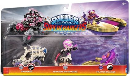 Skylanders Roller Brawl Tomb Buggy Splatter Splasher triple pack