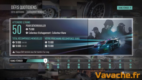 Need For Speed Progresser au classement