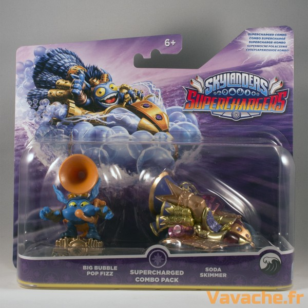 Skylanders SuperChargers Double Pack Big Bubble Pop Fizz et Soda Skimmer