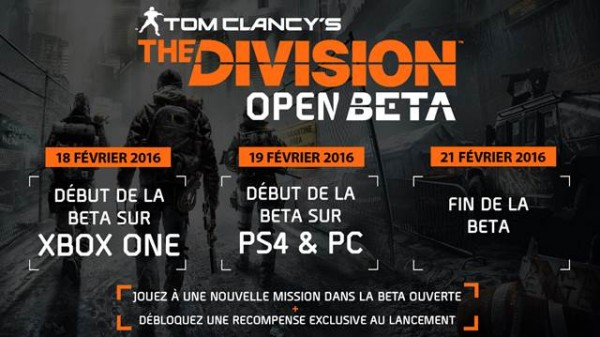 Beta ouverte The Division