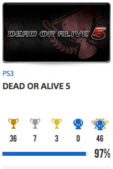 Progessison trophées Dead Or Alive