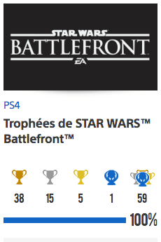 trophées Star Wars Battlefront