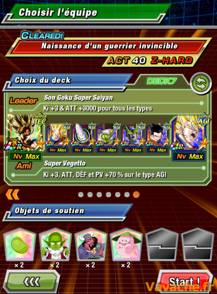 Dokkan Battle suggestion équipe Dokkan Super Gogeta