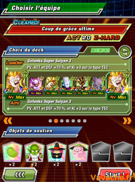 Dokkan Battle suggestion équipe Dokkan Goku SSJ3