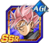 Dokkan Battle SSR Black Goku Rosé AGI SSJ END