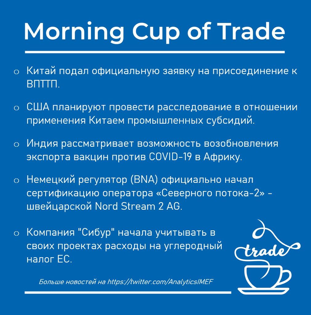 Morning cup of trade
