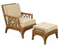 St. Augustine Chair & Ottoman - Wicker Rattan Collection ...