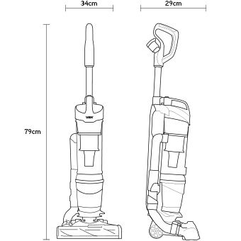 VAX Air Steerable Lift UCPESHV1 Upright Vacuum Cleaner
