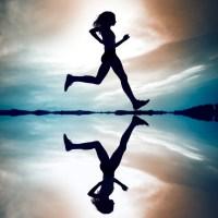 Runner al tramonto