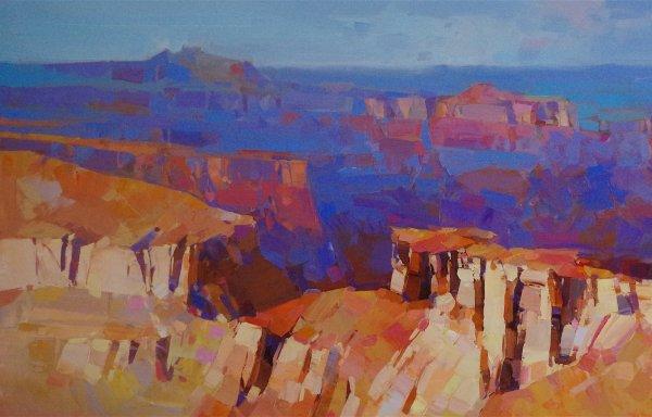 Grand Canyon Arizona Oil Painting Large Size Handmade