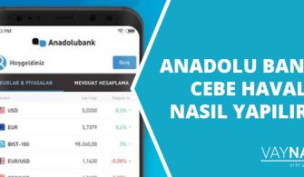 Anadolu Bank cebe havale