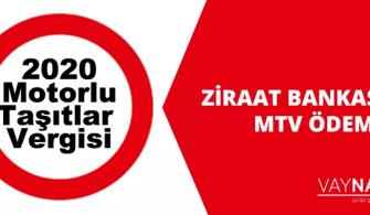 Ziraat Bankası MTV Ödeme İşlemleri 2020