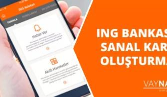 ING Bank Sanal Kart Oluşturma