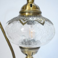 Turkish Ottoman Table Lamp - Crackle Glass | Vazo Market ...