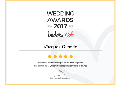 Wedding Awards 2017 Autocares Vázquez Olmedo