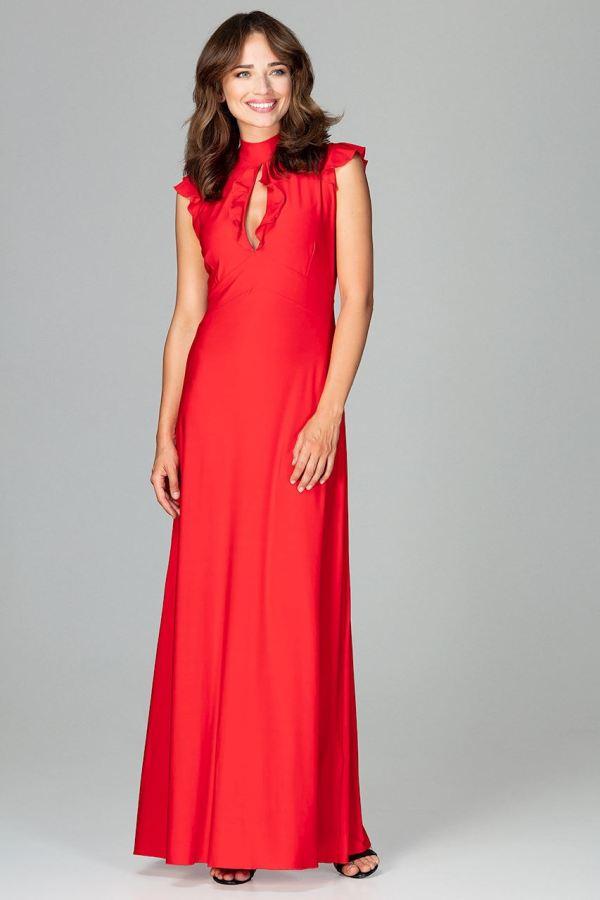 Lenitif - Langes, elegantes rotes Kleid | vaZZio