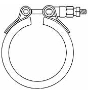 V Band Clamp With 2 Segment / 4 Segment, Twin Opposed Bolt