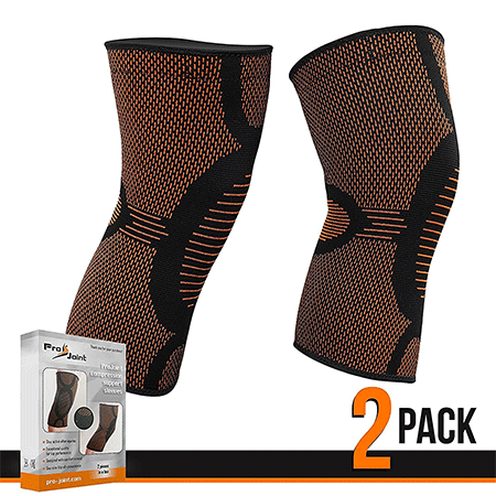 Pro Joint 2 Pack Compression Support Sleeve Knee Brace