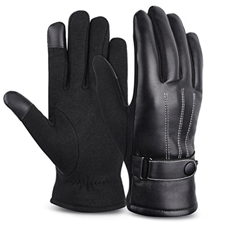 VBIGER Leather Gloves Winter Mittens Touchscreen Gloves
