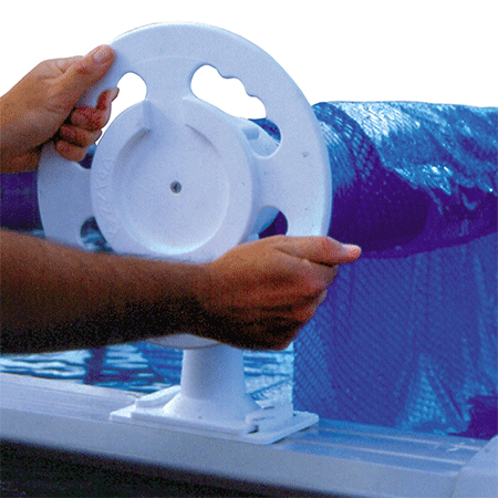 Doheny's Deluxe Over the Ground Solar Pool Cover Reel System
