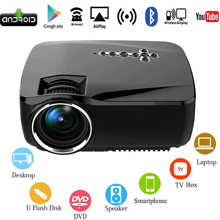 Oakletrea Android Wifi LED Projector