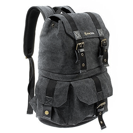 The Evecase Convertible School DSLR canvas backpack