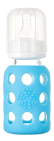Lifefactory 4-Ounce BPA-Free Glass Baby Bottle