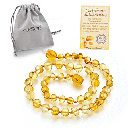 Choker Natural Unisex Raw Baltic Amber Teething Necklace